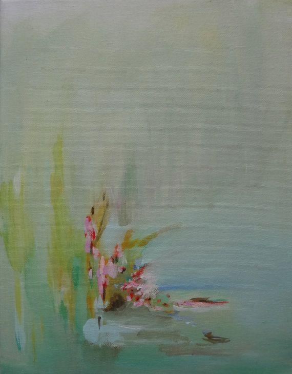 Art Abstract Original Painting Dreamy Soft by susanskelleyart, $82.00