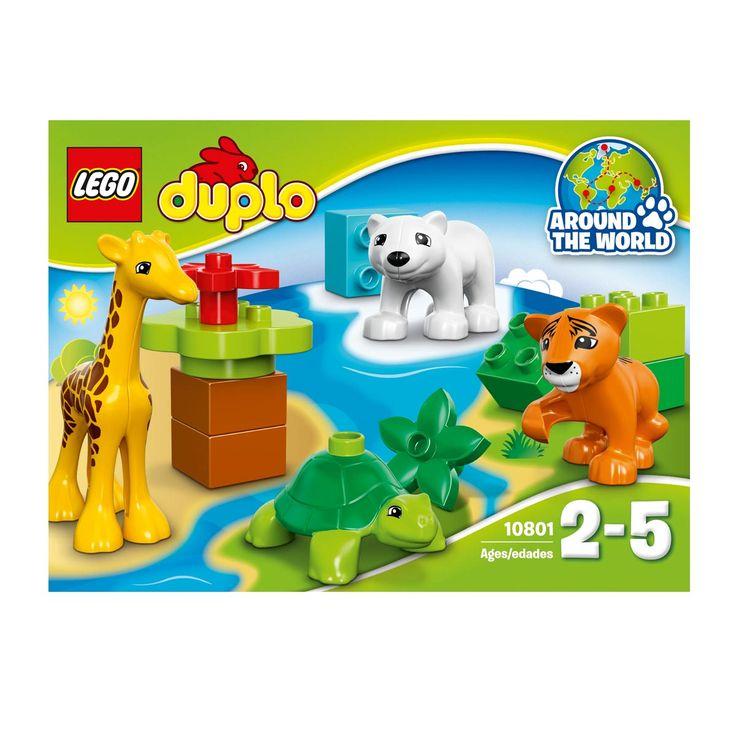 Ces créatures adorables de la collection Le tour du monde LEGO DUPLO sont idéales pour que les petits amis des animaux développent des compétences précoces de jeu de rôle. Alors qu'ils s'occupent de leurs nouveaux amis, parlez-leur du nom des différents bébés animaux et de leur habitat naturel. Cet ensemble est idéal pour apprendre et jouer avec un bébé tigre, un girafon, un ourson polaire et un bébé tortue.