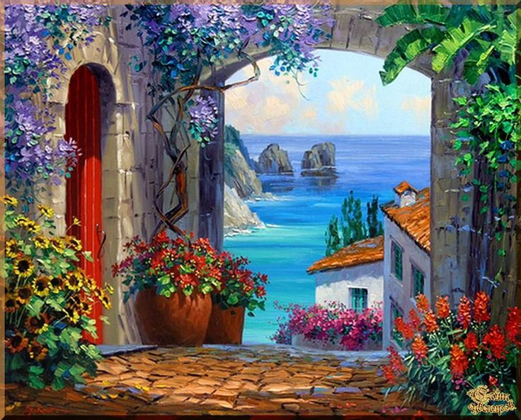 Mediterranean - 125 Средиземноморье, картины, подарки