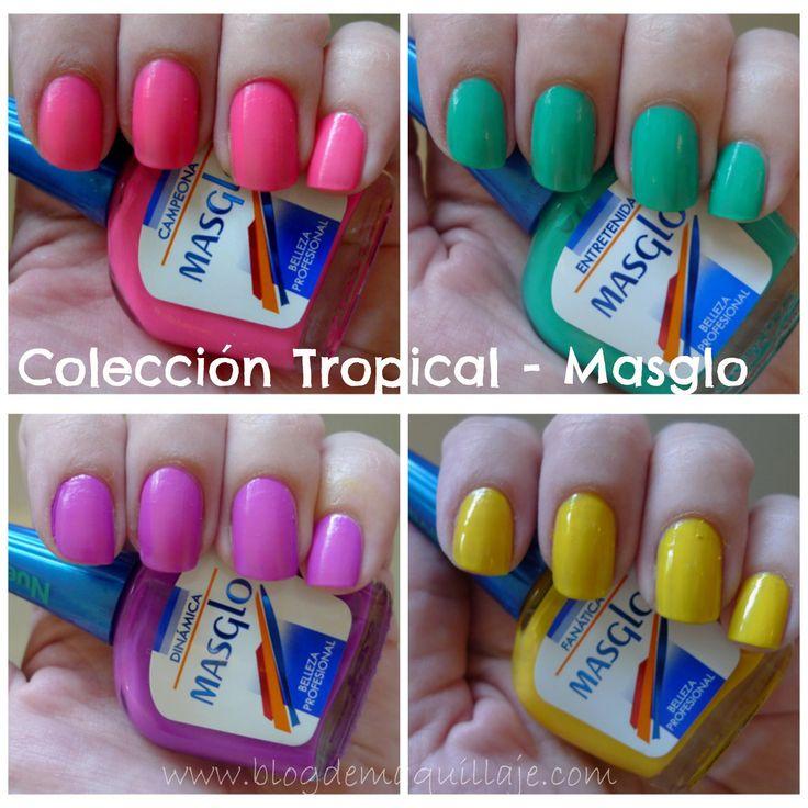 Colección de manicura Tropical de Masglo -Blog de Maquillaje