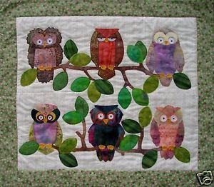 Quilt-PATTERN-Whooters-owl-hooters-applique-easy-fun