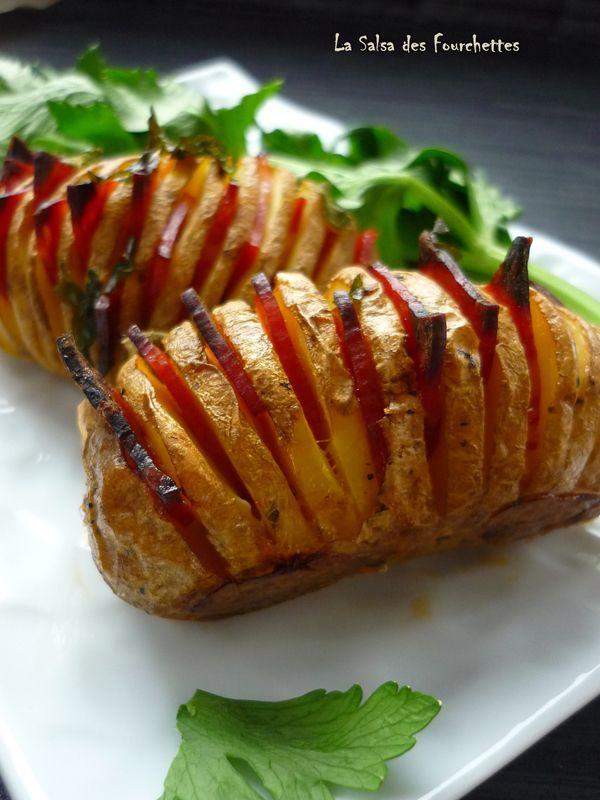 Pommes éventail au Chorizo #Recette #facile