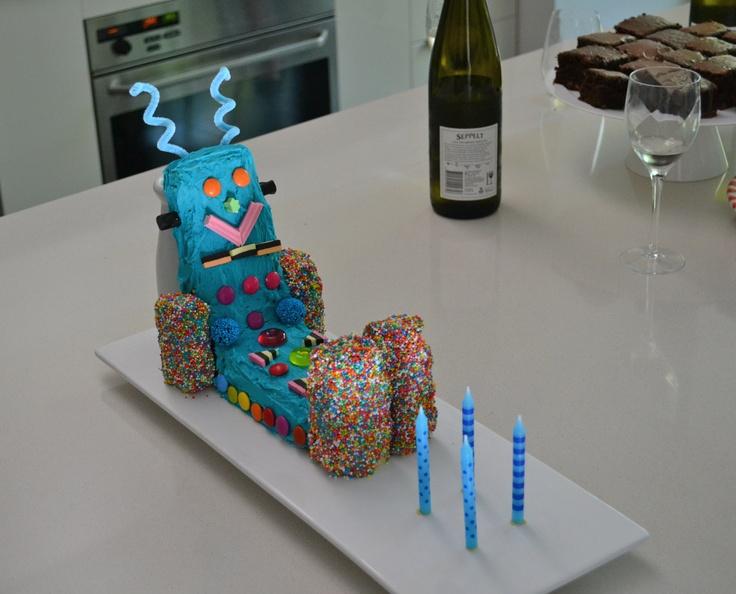 Childrens Birthday Cake Book Robot