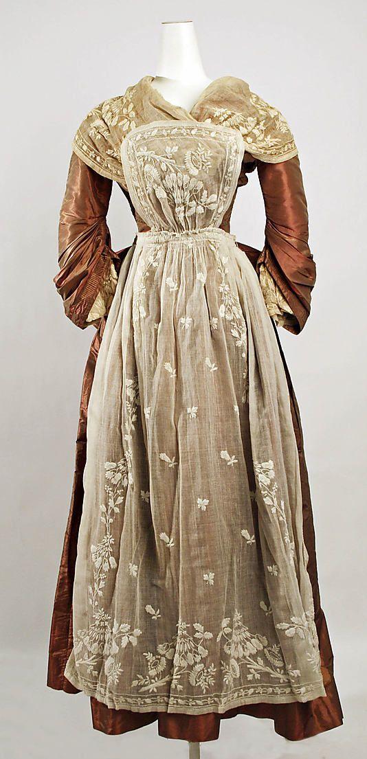 American silk fancy dress costume circa 1890s