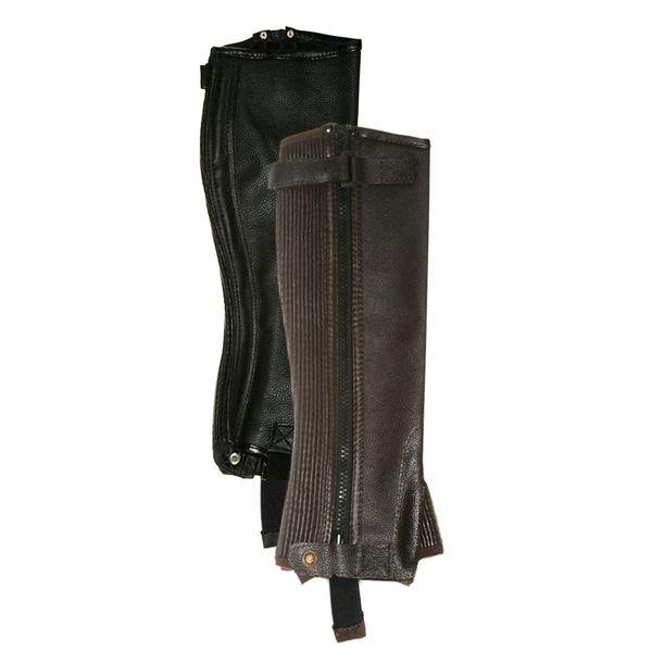 Gambali Daslo in pelle, dotati di cerniera lampo e di fascia elastica laterale per una perfetta aderenza alla gamba