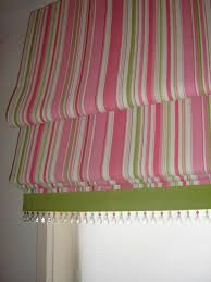 Striped Pink And Green Roman Gets The Wow Treatment With Addition Of Banding Gl Beads Blinds Pinterest