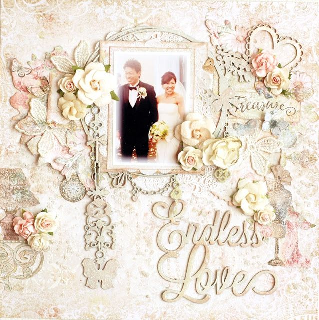 72 best Scrapbooking Engagement & Wedding Layouts images on ...