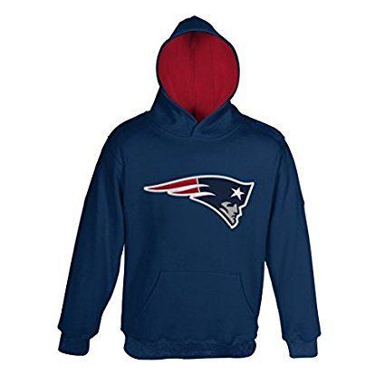 "New England Patriots Youth NFL ""Primary"" Pullover Hooded Sweatshirt"