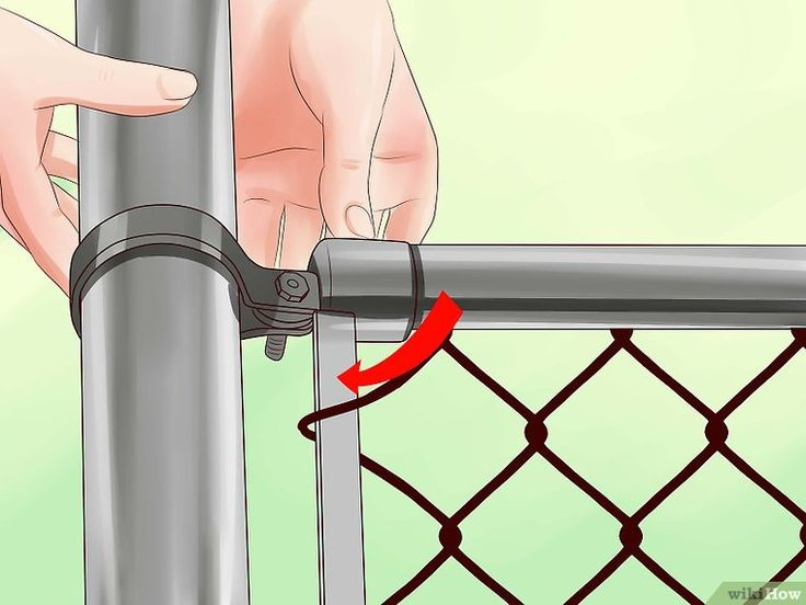 How to remove a chain link fence with pictures chain