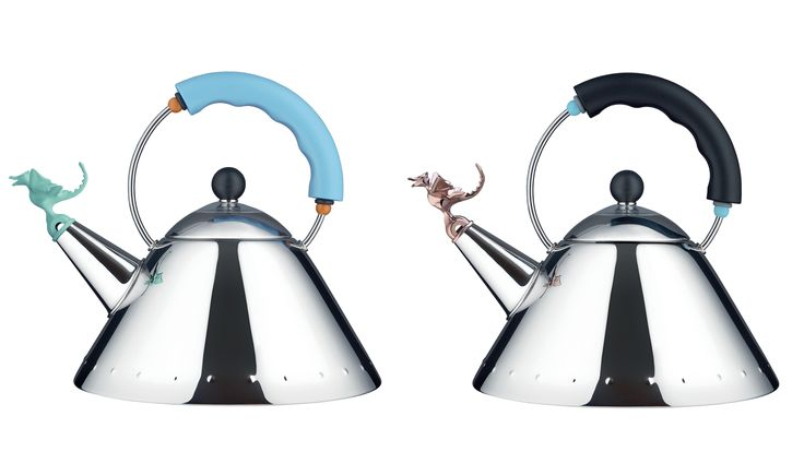 Alessi celebrates the 30th anniversary of 9093 Kettle! 9093 - Tea Rex Kettle special edition, redesigned by Michael Graves for Alessi. Get The Originals at www.2ndfloor.gr