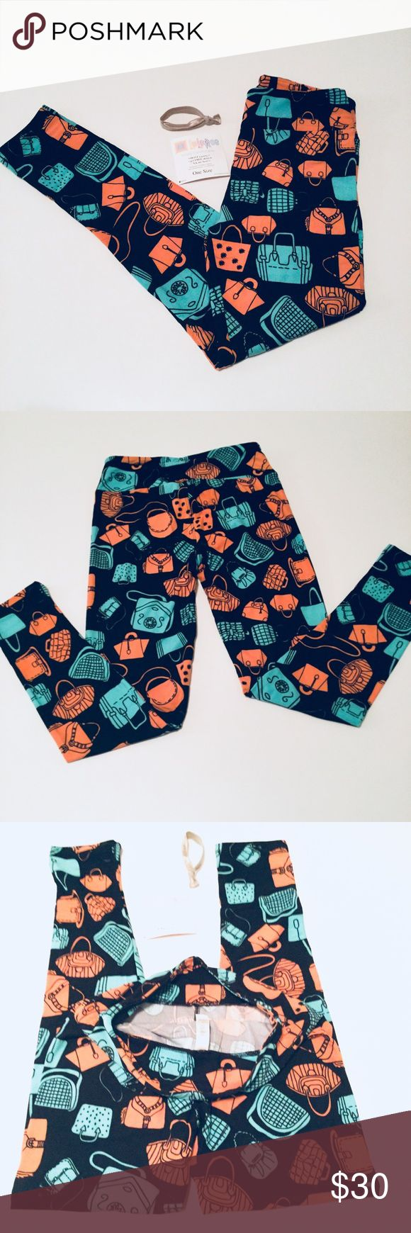 🆕 NWT LulaRoe O/S Leggings Purses 🆕 NWT LulaRoe O/S Leggings Purses Multi Color Print. Material: 92% Polyester, 8% Spandex. Soft buttery leggings and so comfortable! Made in Vietnam. Machine Wash Cold. See Size Chart in Photos (Best Fits Ladies Sizes 2-10). Colors are: Peach, Mint, and Black. 🚫 NO TRADES OR LOW BALL OFFERS🚫 LuLaRoe Pants Leggings