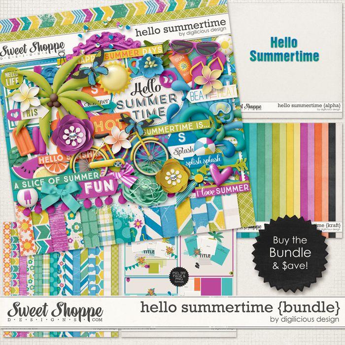 Hello Summertime Bundle by Digilicious Design