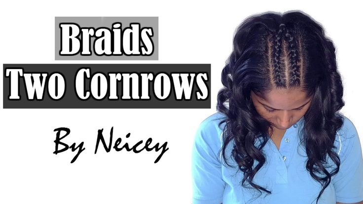 "Two Cornrows hairstyle ""Boxer Braids"" french braid…"