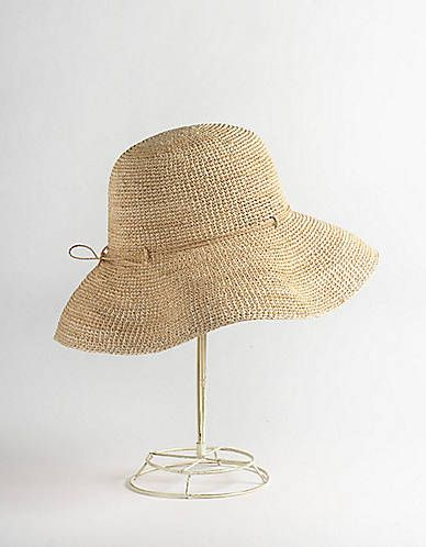 Raffia Crochet Hat | Lord and Taylor