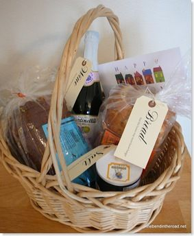 """""""It's a Wonderful Life"""" inspired gift basket for new homeowners. """"Bread, that this house may never know hunger. Salt, that life may always have flavor. And wine, that joy and prosperity may reign forever."""""""