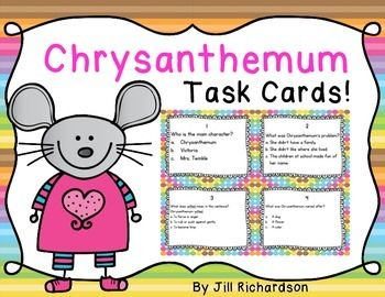 the chrysanthemum reading response This chrysanthemum activities task card activity is a great literacy center to use after the children have read chrysanthemum by kevin henkesthe children can record their responses on the printable or in a reading response notebookincluded:16 comprehension task cards1 answer sheet1 teacher's edition answer sheet.