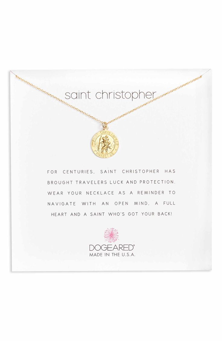 Main Image - Dogeared St. Christopher Pendant Necklace