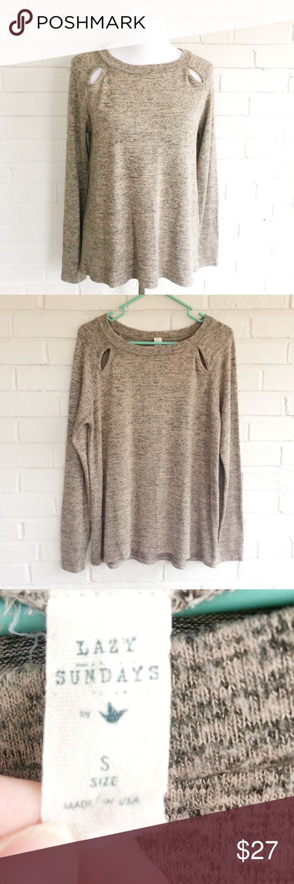 Lazy Sundays by Paper Crane stretchy sweatshirt Make an offer! No trades. Bundle and save - I'm a fast shipper! Paper Crane Tops Sweatshirts & Hoodies