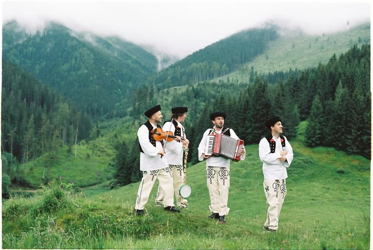 Slovak folk wedding in the mountains