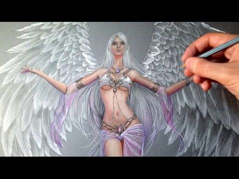 How to draw a female Fantastic Angel - League of Angel 2