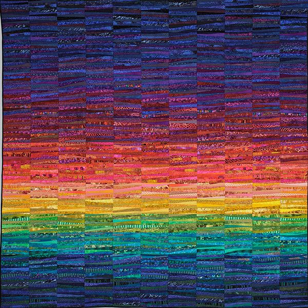 The Quilts of Ann Brauer--Abstract landscapes in fiber on Behance