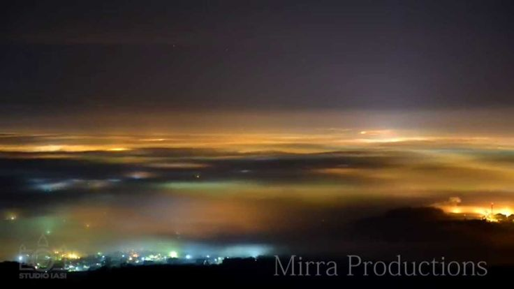 Iasi After Midnight - the beauty of fog in the moonlight - Timelapse