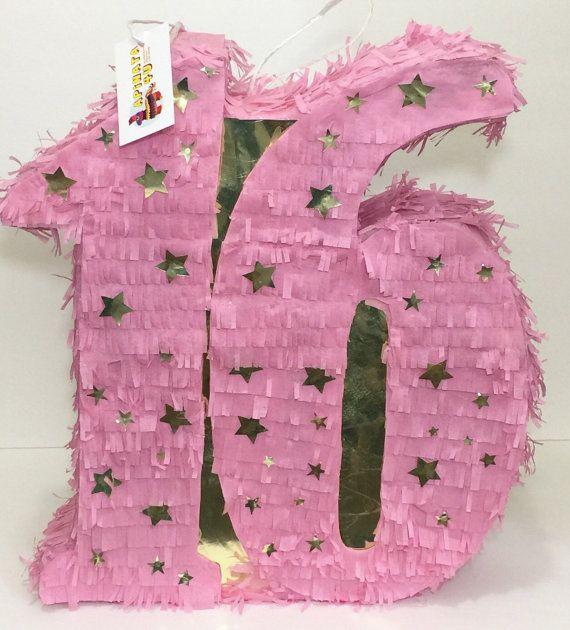 XVI cumpleaños piñata doble dígitos dulces dieciséis