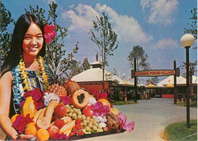 Tiki Restaurants - Vintage Drink Girls -- Tiki Central The Hawaiian Punch Village at Sea World, San Diego, CA