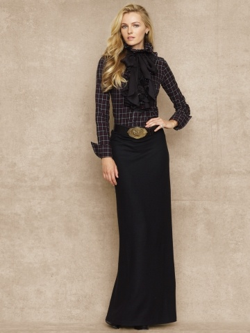 I love and need this long black skirt. Morgan Wool Maxi Skirt - Blue Label