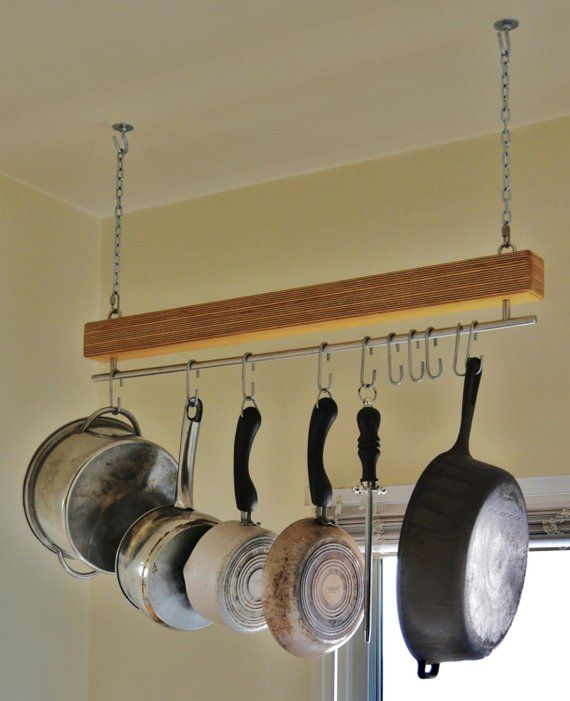 Baltic Birch Single Bar Hanging Pot Rack In 2019 Products Pot