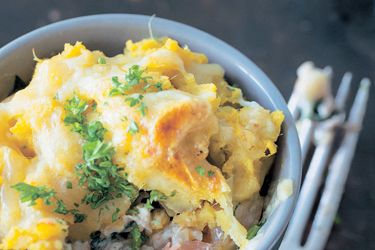 Ultimate smoked fish pies recipe, Bite –       Three types of smoked fish and a kumara mash topping make for gourmet comfort food. You don't need a big serving, as smoked fish has a rich flavour, and the dish can be surprisingly filling. Serve with a big salad on the side, or plain steamed vegetables.        – foodhub.co.nz