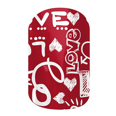 Love Notes  nail wraps by Jamberry Nails Choose from 6 adult sized and 2 juniors sized exclusive Valentine's nail wraps! This season you will be feeling the love all the way to the tips of your fingers.  #LoveNotesJN #valentinesdaynails #JamberryNails