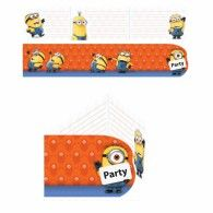 Minion Invitations & Envelopes Pkt6 $7.95 A997978