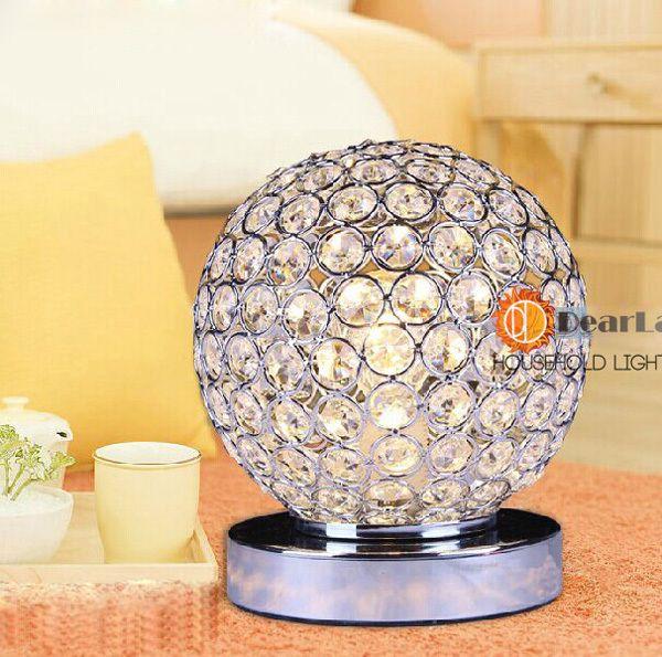 Современный кристалл настольные лампы для спальни, Гостиной, Исследование, Офис современный стекло настольная лампа бесплатная доставка ( TL-53 )