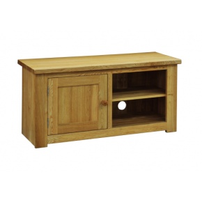 Contemporary Solid Oak QPTV TV Unit  www.easyfurn.co.uk