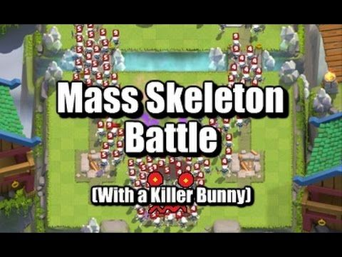 Mass Skeleton Battle (500+ Skeletons) - Clash Royale