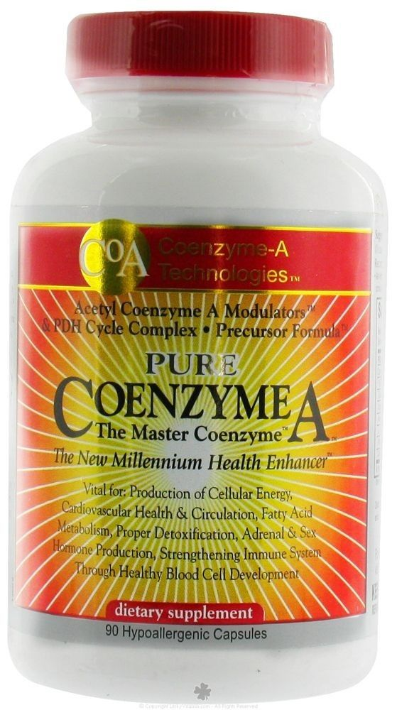 CoEnzyme A Tech CoEnzyme A 90 Gels! Anti-Oxidant Seen on Tv! Same Day Shipping!