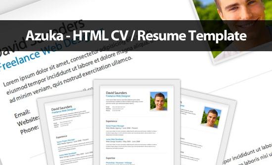 Azuka – A FREE CV / Resume HTML Template