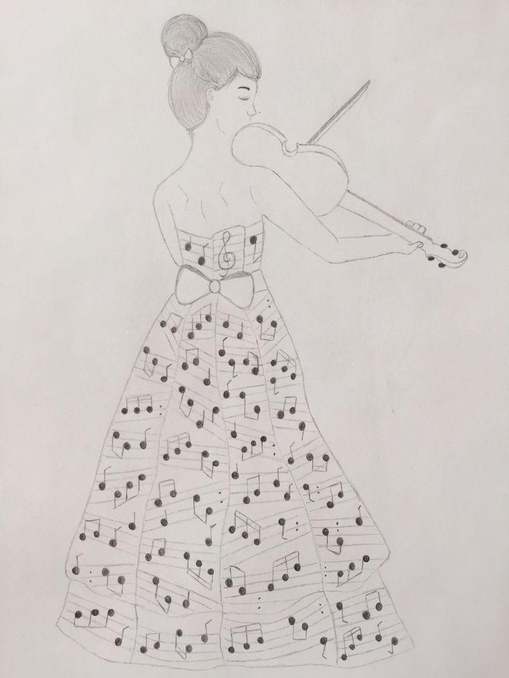 #dibujo #música #violín