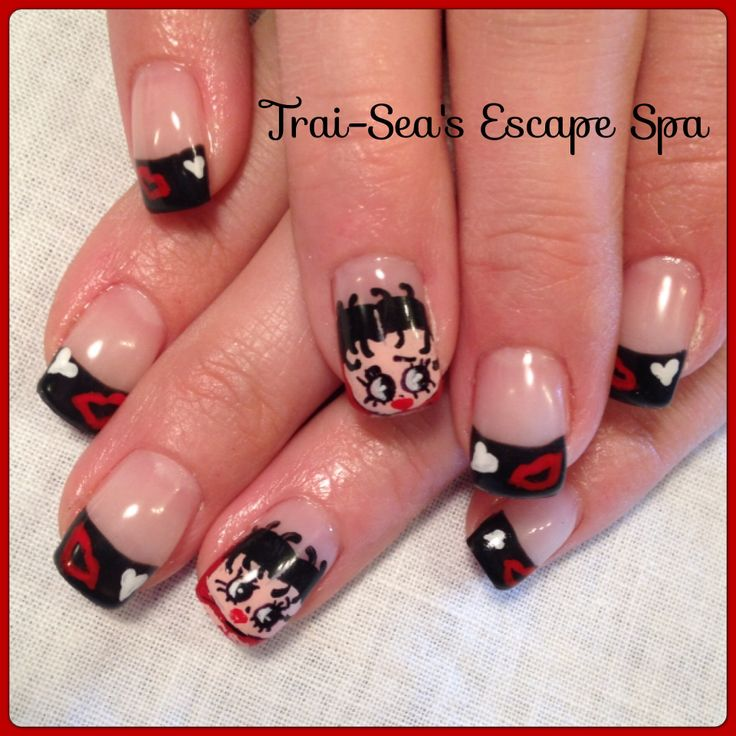 Betty Boop Nails: 17 Best Images About Themed Nail Art On Pinterest