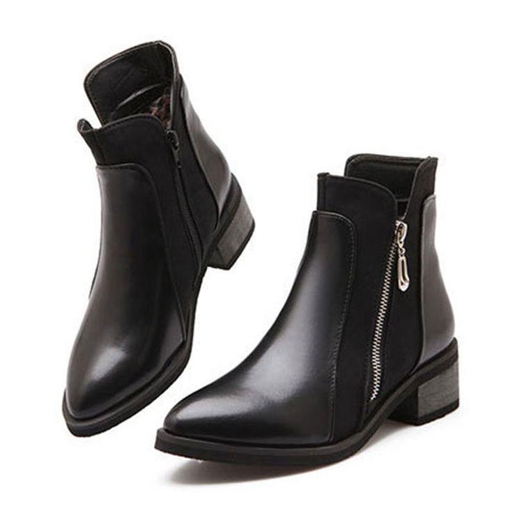 Enkellaars voor dames laarzen hakken botas vierkante wees teen schoenen platform vrouwen winter laarzen martin motorfiets vrouwelijke snd 159 in Invoerrechten douane&Orders kan nodig zijn om de douane in uw land.Controleer dan of uw bestelling zal extra invoerrecht van vrouwen laarzen op AliExpress.com | Alibaba Groep