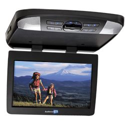 AVXMTG13UA - 13.3 inch LED backlit monitor with built-in DVD player  The AVXMTG13UA is a 13.3 inch LED backlit overhead mobile video system. This unit features audio/video inputs for additional source units, USB/SD inputs for digital media (4GB max on SD card), built-in 16 channel FM modulator as well as interchangeable pewter, shale and black trim rings and snap-on covers.