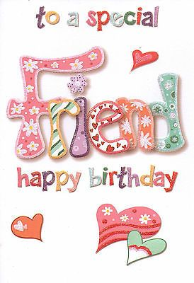 A #special #friend birthday card cute #traditional female - 17 cards to choose…