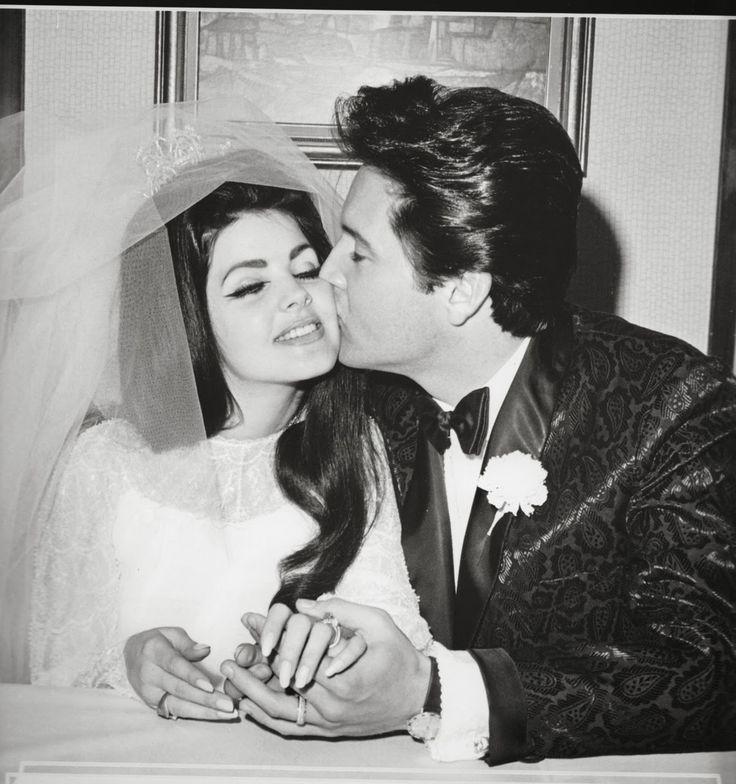 Priscilla and Elvis Presley's wedding 1 May 1967 in Las Vegas