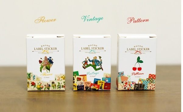 3 packs sticker - Flower & Vintage & Pattern (48 sheet x 3 pack = 144 sheet)