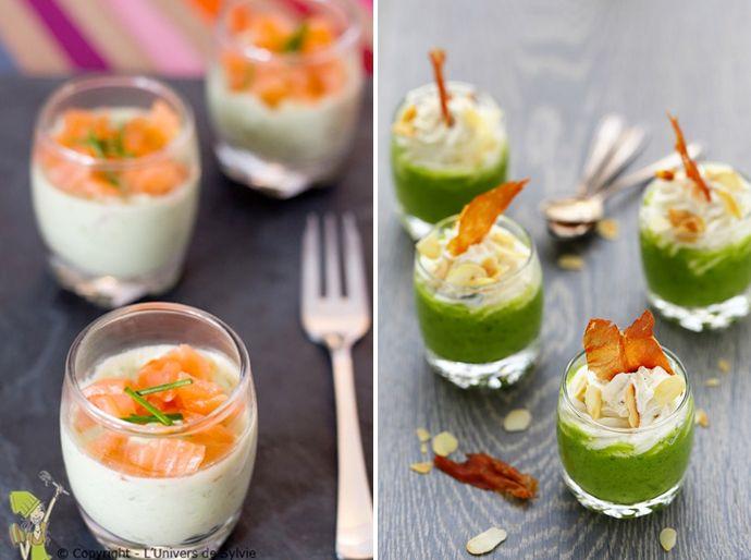 amuses in glaasjes, amuseglazen, recepten hapjes kerstdiner, kerst menu inspiratie