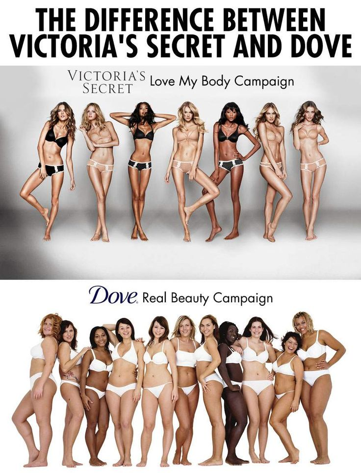 The difference between Victoria's Secret Love my Body and Dove Real Beauty campaigns…