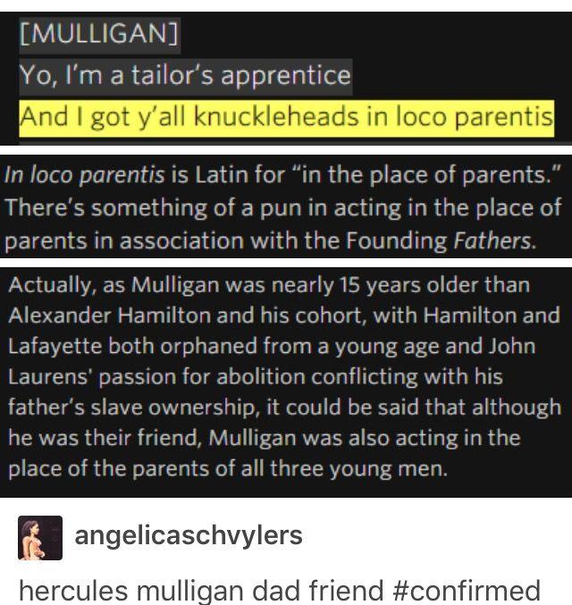 Hercules Mulligan is the dad friend