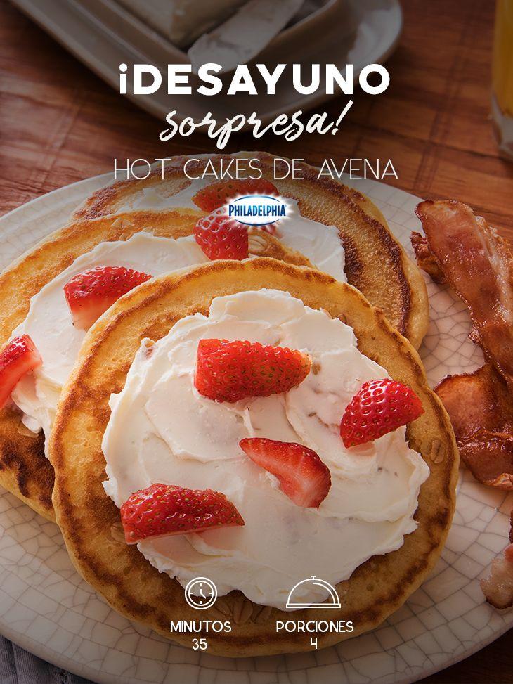 Consiente a tus peques al despertar y sorpréndelos con unos Hot Cakes de avena.  #recetas #receta #quesophiladelphia #philadelphia #crema #quesocrema #queso #comida #cocinar #cocinamexicana #recetasfáciles  #hotcakes #fresa #avena #desayuno #desayunos #comida #recetasdesayunos #desayunossaludables #desayunosfáciles