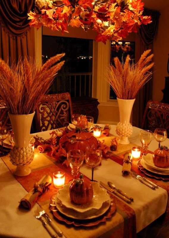 Autumn Wheat Centerpieces And Table Settings On Pinterest